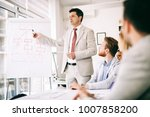 presentation and training in... | Shutterstock . vector #1007858200