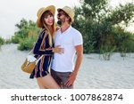 fashionable couple in love in... | Shutterstock . vector #1007862874
