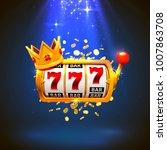 king slots 777 banner casino on ...   Shutterstock .eps vector #1007863708