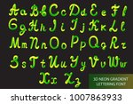 neon 3d typeset with rounded...