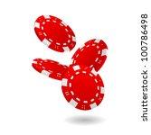 illustration of falling red... | Shutterstock .eps vector #100786498