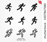 running icons vector | Shutterstock .eps vector #1007867080