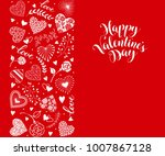 happy valentines day greeting... | Shutterstock .eps vector #1007867128