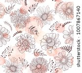 seamless pattern from flowers... | Shutterstock .eps vector #1007867140