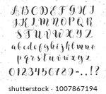 elegant calligraphy letters....   Shutterstock .eps vector #1007867194