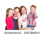 portrait of happy family... | Shutterstock . vector #100786819
