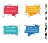 vector text label   speech... | Shutterstock .eps vector #1007872930