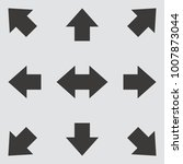 arrow icon. vector illustration. | Shutterstock .eps vector #1007873044