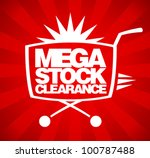 mega stock clearance. sale... | Shutterstock .eps vector #100787488