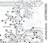 circuit board  technology... | Shutterstock .eps vector #1007880280