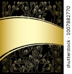 gold and black background with... | Shutterstock .eps vector #1007882770
