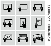 digital tablets icons set. | Shutterstock .eps vector #100788553