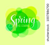 spring is coming card with... | Shutterstock . vector #1007886700