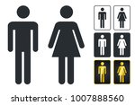 wc sign for restroom. toilet... | Shutterstock .eps vector #1007888560