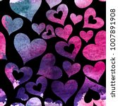 heart love seamless pattern...   Shutterstock .eps vector #1007891908