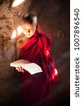 monk study in temple by read a... | Shutterstock . vector #1007896540