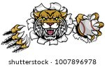 a wildcat angry animal sports... | Shutterstock .eps vector #1007896978
