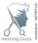 a male hairdresser hair salon... | Shutterstock .eps vector #1007897110