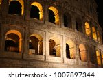 view at roman coliseum at night....   Shutterstock . vector #1007897344
