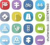 flat vector icon set   shop... | Shutterstock .eps vector #1007897860