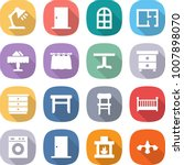 flat vector icon set   table... | Shutterstock .eps vector #1007898070