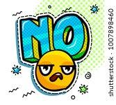 comic speech bubble with... | Shutterstock .eps vector #1007898460