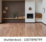 modern brown living room and... | Shutterstock . vector #1007898799