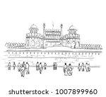 sketch of red fort unesco world ...   Shutterstock .eps vector #1007899960