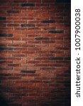 red brick wall texture grunge... | Shutterstock . vector #1007900038