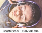 music therapy concept with boy...   Shutterstock . vector #1007901406