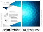 dark blue vector  template for... | Shutterstock .eps vector #1007901499
