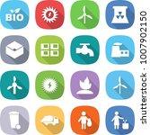 flat vector icon set   bio... | Shutterstock .eps vector #1007902150