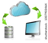 cloud computing concept with... | Shutterstock . vector #1007903464