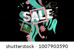 word sale with motion effect as ... | Shutterstock . vector #1007903590