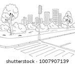 street road graphic black white ... | Shutterstock .eps vector #1007907139