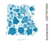 map of egypt filled with...   Shutterstock .eps vector #1007907604
