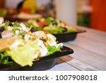 italian salads  assorted... | Shutterstock . vector #1007908018