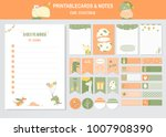 set of animals and cute vector... | Shutterstock .eps vector #1007908390