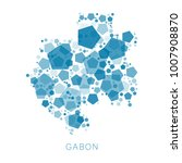map of gabon filled with...   Shutterstock .eps vector #1007908870