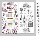 wine restaurant menu. design... | Shutterstock .eps vector #1007912110