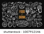 food and drink vector big set... | Shutterstock .eps vector #1007912146