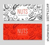 nuts and seeds banners. vector... | Shutterstock .eps vector #1007912149