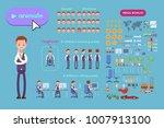 big set for animating business... | Shutterstock .eps vector #1007913100