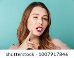 close up portrait of a playful... | Shutterstock . vector #1007917846