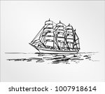freehand drawing hand draw... | Shutterstock .eps vector #1007918614