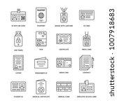 documents  identity vector flat ... | Shutterstock .eps vector #1007918683