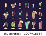 flat vector set with different... | Shutterstock .eps vector #1007918959