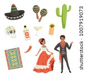 national cultural symbols of... | Shutterstock .eps vector #1007919073