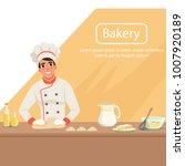 illustration with man baker... | Shutterstock .eps vector #1007920189
