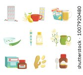 icon set of cold and flu... | Shutterstock .eps vector #1007920480